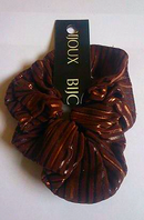 Brown striped scrunchie (Code 2621)